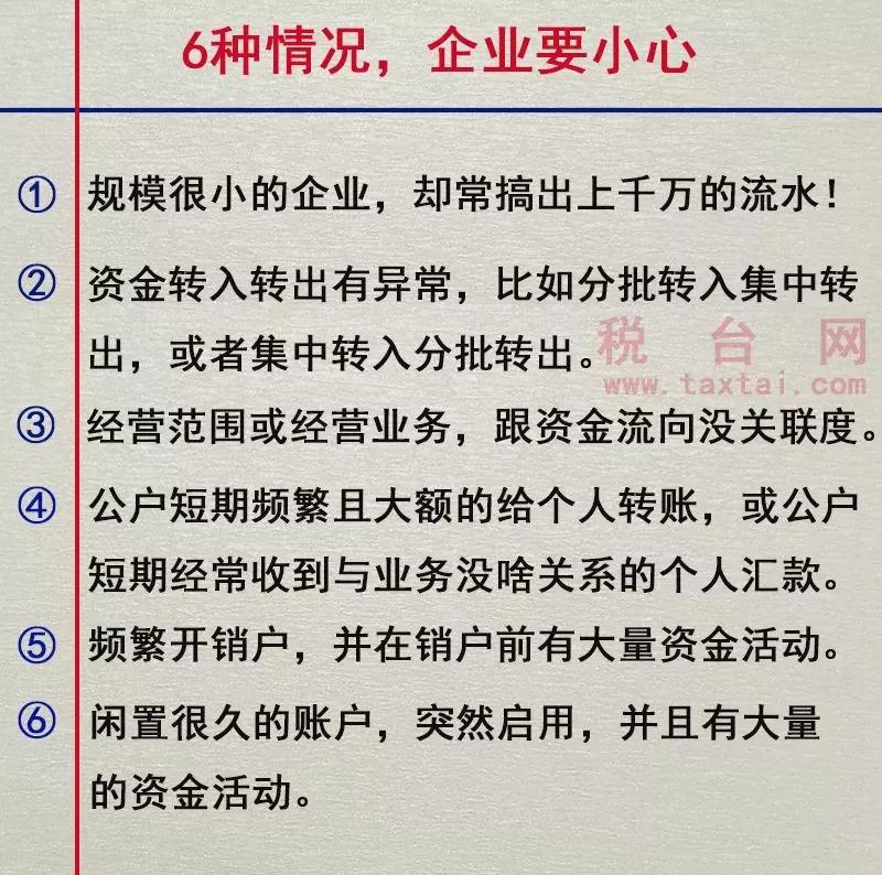如果企業涉及以下這6種情況,要小心了